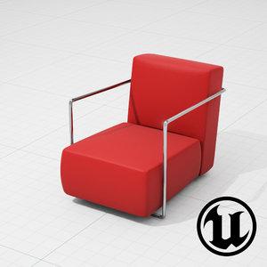 3d flexform chair ue4