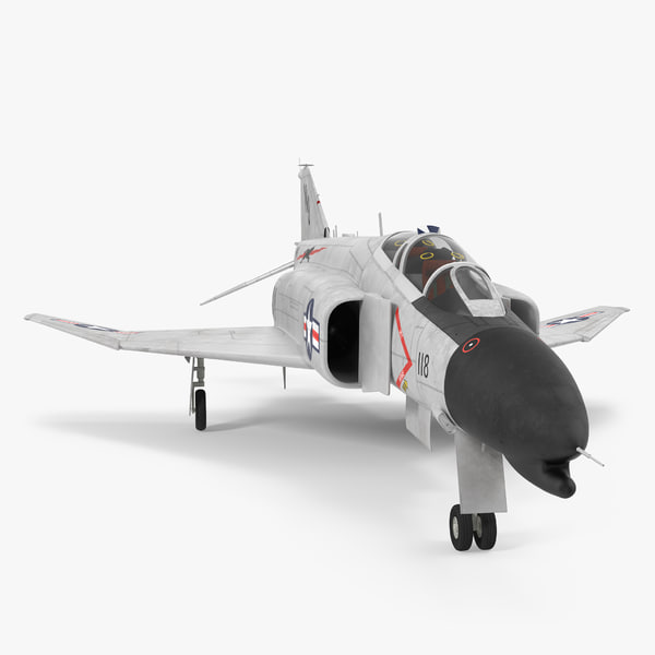 3d model f-4 phantom ii navy