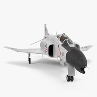 3d model f-4 phantom ii navy