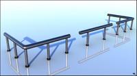railing metal modular 3d model