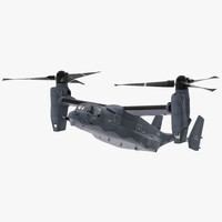 3d v-22 osprey transport aircraft