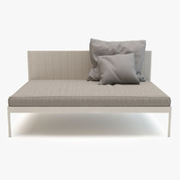 3d roda basket sofa center