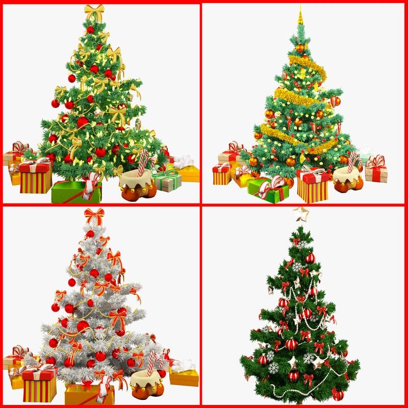 christmas trees v2 3d model