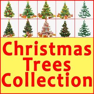 3d model christmas trees