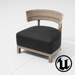 flexform thomas chair ue4 3d model