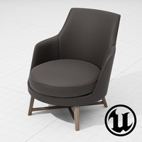 x flexform guscio chair ue4