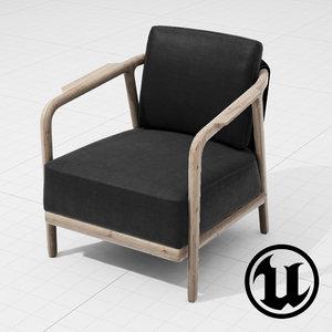 3d flexform crono chair ue4