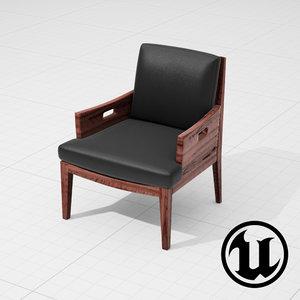 3d flexform betty chair ue4 model
