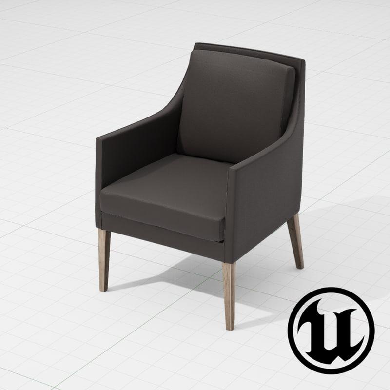 flexform pat chair ue4 3d model