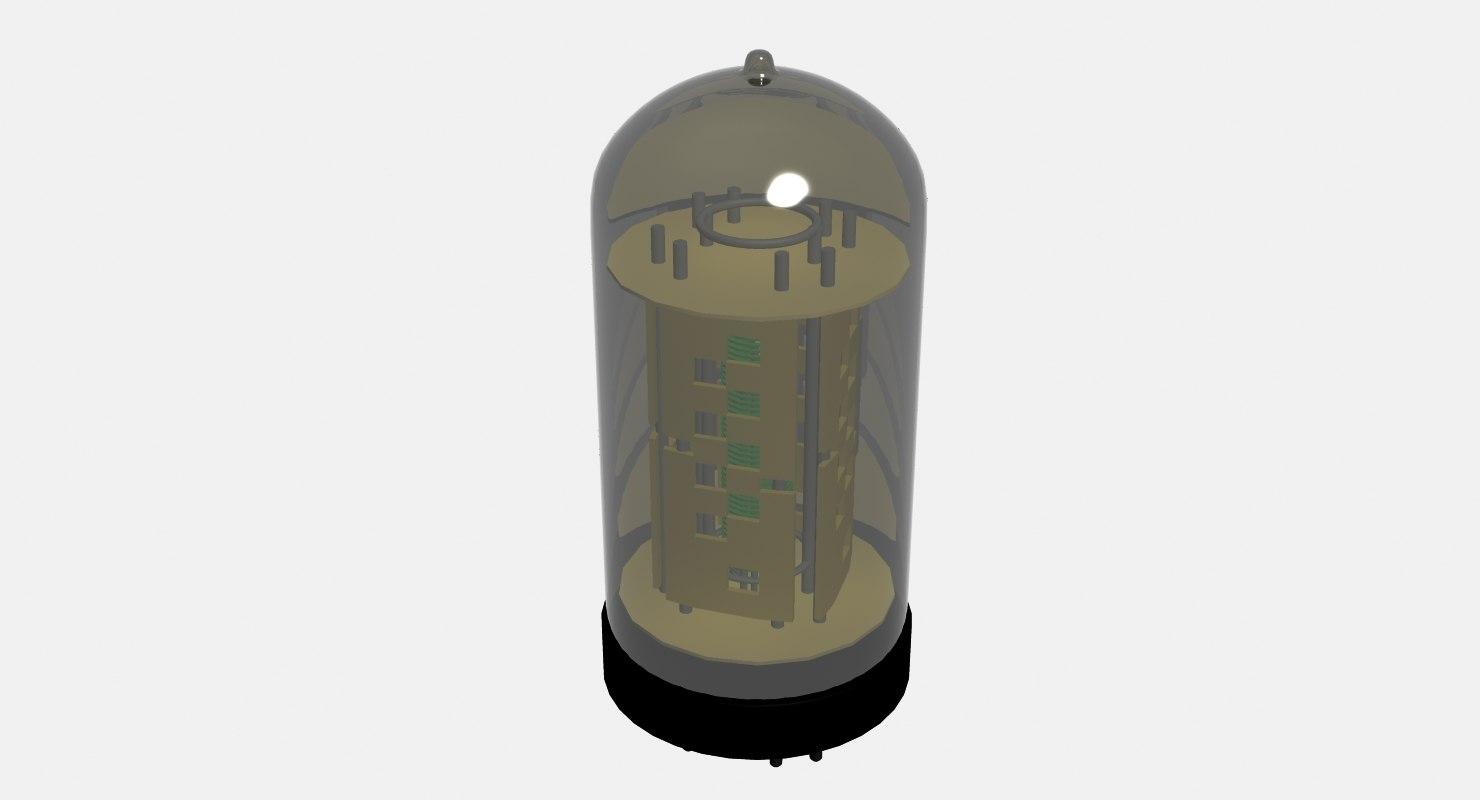 3d pentode vacuum tube