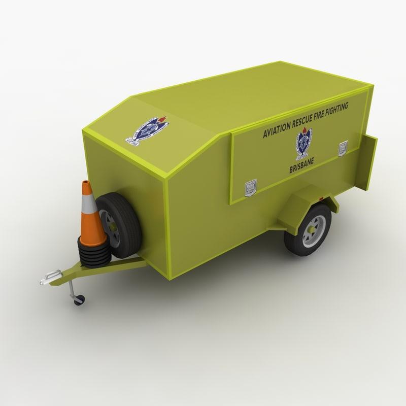 support trailer 3d model