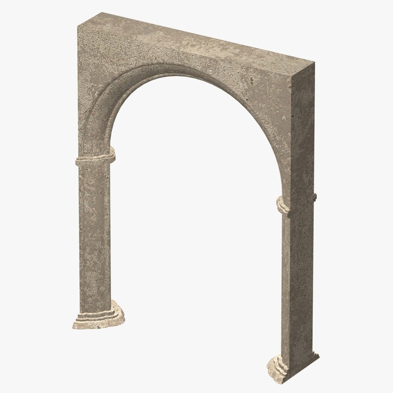 weathered archway 3d obj