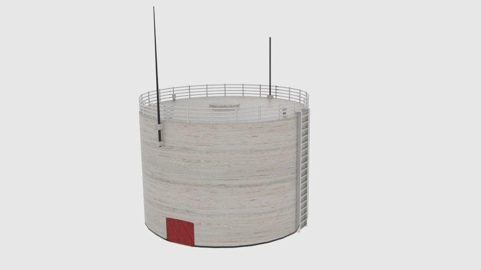 oil silo 468 3d model