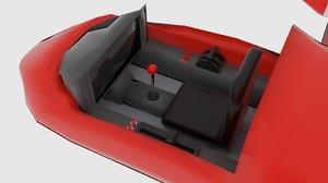 space plane cp interior 3d model