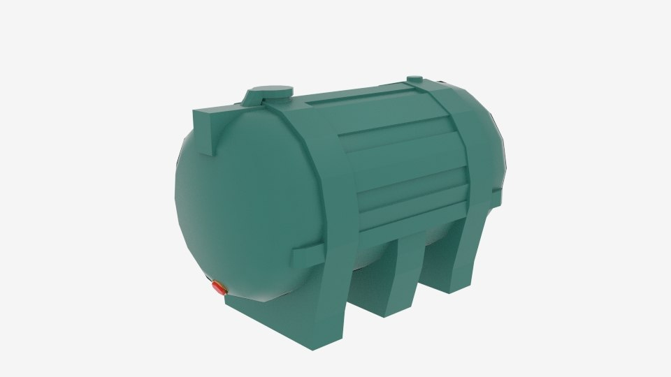 sturdy carbery 1250 oil tank 3d model