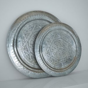 3d moroccan tray model