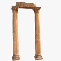 3d columns ancient roman