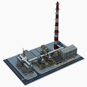 3d gas condensate refinery model