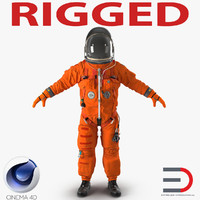 US Advanced Crew Escape Suit ACES Rigged for Cinema 4D