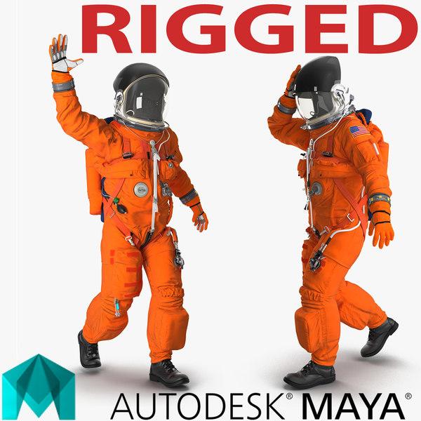 3d model advanced crew escape suit