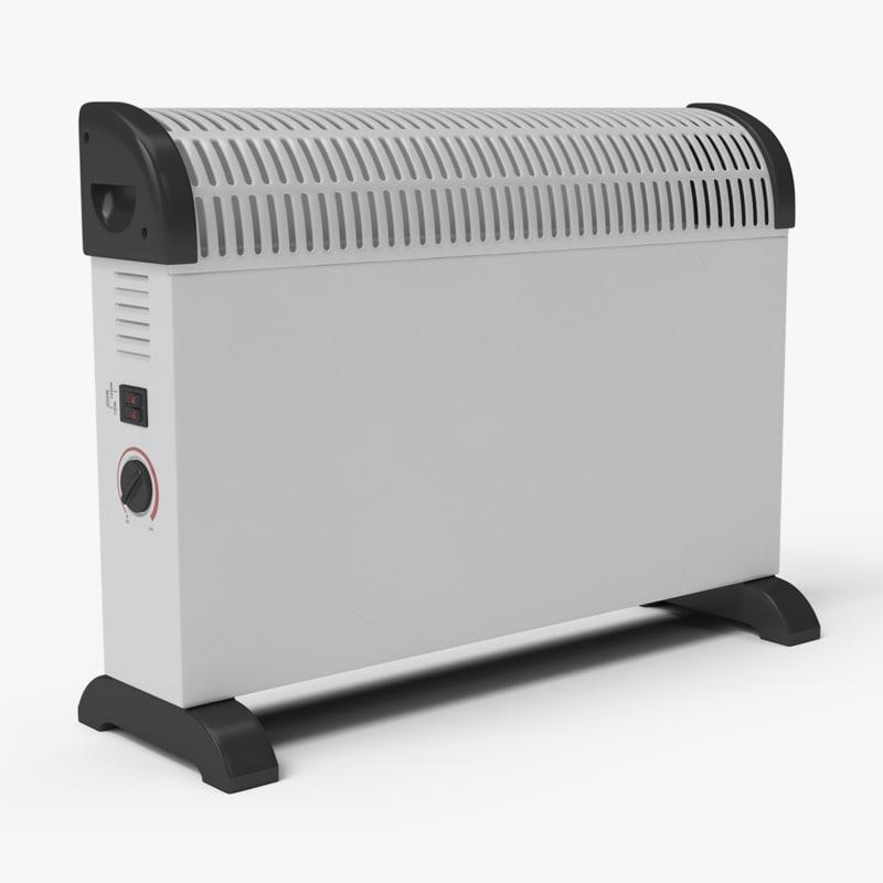 3d model generic electric heater