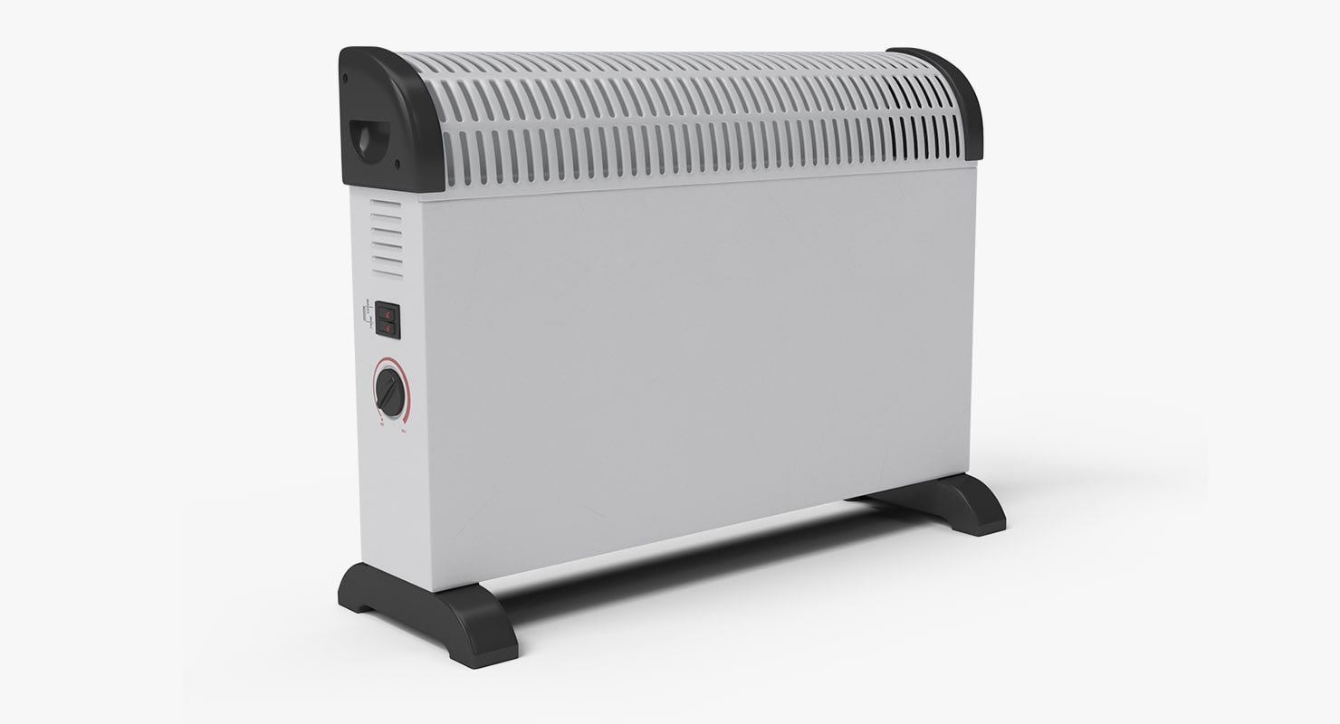 3d model generic electric heater