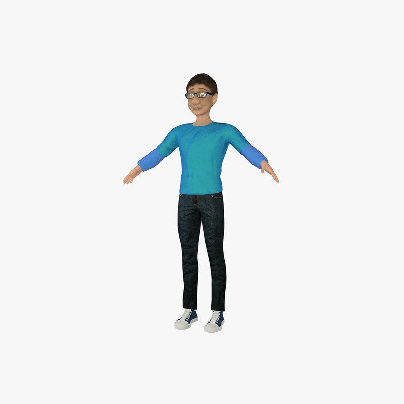 3d model cartoon male version