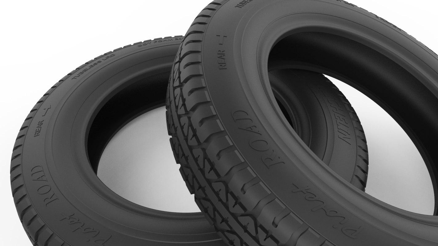 classic tire 3d model