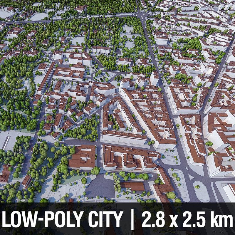 3d warsaw city buildings