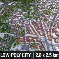 3d warsaw city buildings