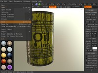 free barrel yellow 3d model