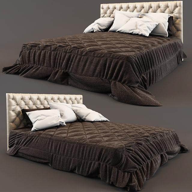 bed - casual 3d model