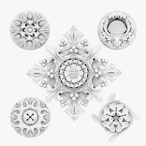 3d model architectural ornament vol 04