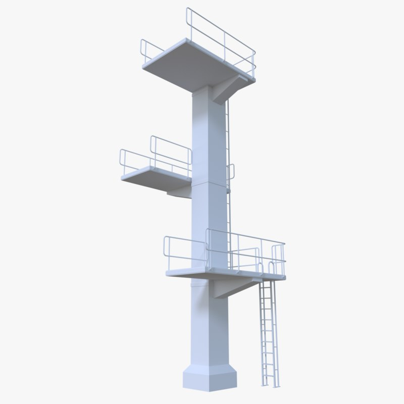 3d model diving tower