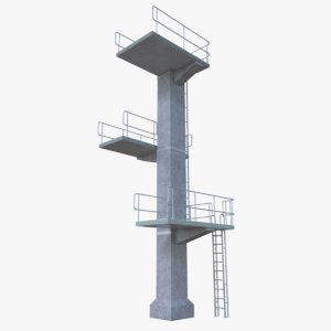 diving tower obj