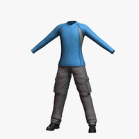 3d 3ds mens clothing 10