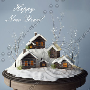 christmas decoration 3d fbx