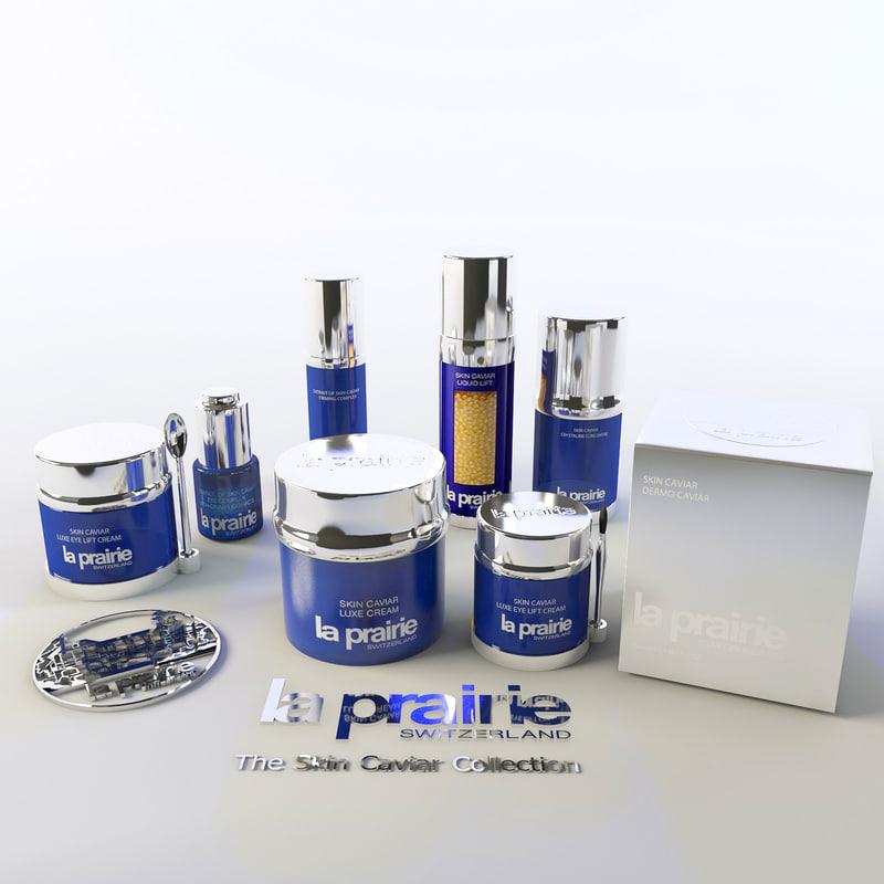 cosmetics - la prairie 3d model