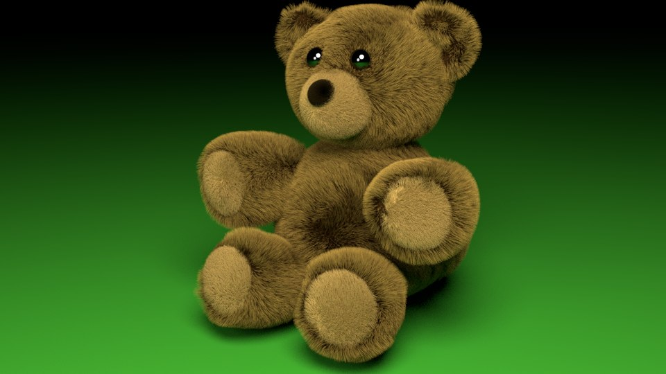 3d model of fuzzy teddy bear