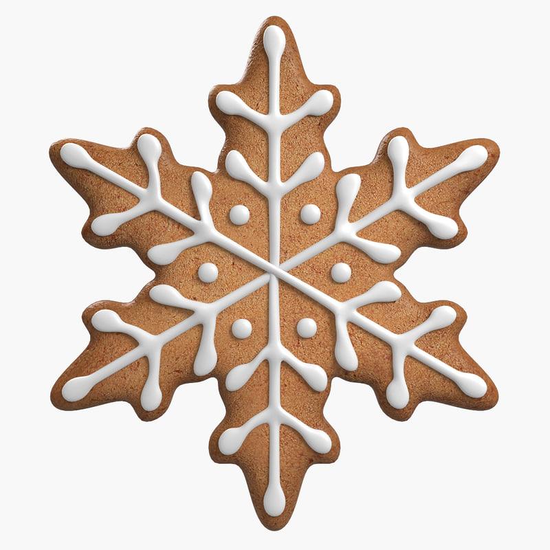 3d model of gingerbread cookie ginger
