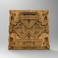 3d wall panel stl cnc model