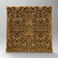 wall panel stl cnc 3d model