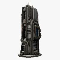 sci fi structure 3d 3ds