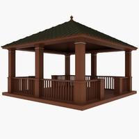 wooden pavilion max