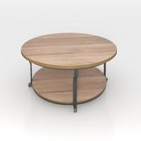 3d model coffee table oak