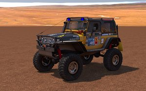 jeep wrangler custom off-road 3d c4d