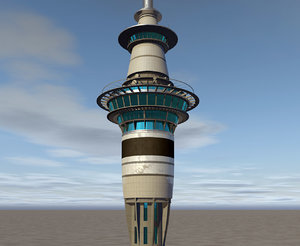 sky tower auckland 3d 3ds