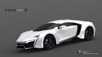 3d model lykan hypersport