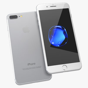 3d iphone 7 silver model