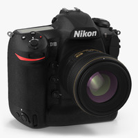 3d model nikon d5 professional dslr